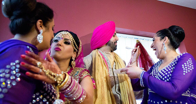 Sikh Wedding Photography in Birmingham - Sharon and Kulli